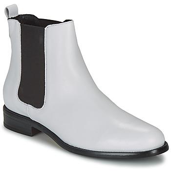 Schuhe Damen Boots André CARAMEL Weiss