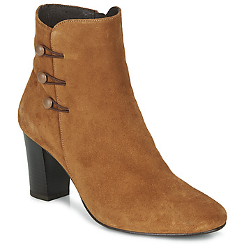 Schuhe Damen Low Boots André MAJESTEE Camel