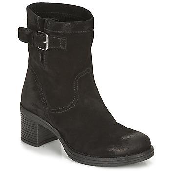 Schuhe Damen Low Boots André MANDARINE Schwarz