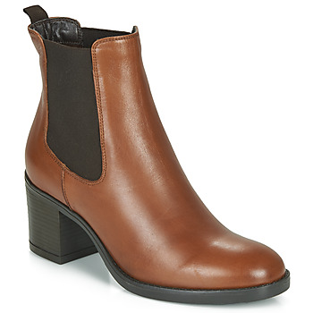 Schuhe Damen Low Boots André MABELLE Cognac