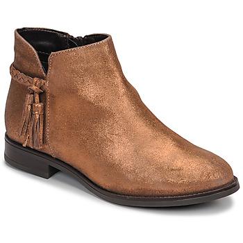 Schuhe Damen Boots André MILOU Goldfarben