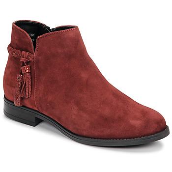 Schuhe Damen Boots André MILOU Rot