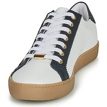 André BERKELEY Weiss / Motif - Kostenloser Versand |  - Schuhe Sneaker Low Damen 5530