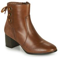 Schuhe Damen Low Boots André MANON Ecaille / Camel