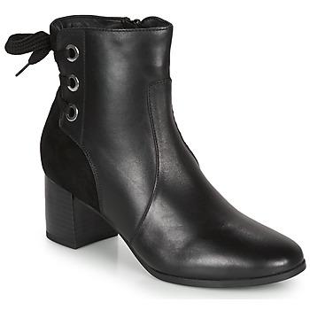 Schuhe Damen Low Boots André MANON Schwarz