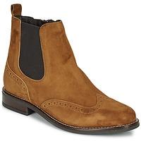 Schuhe Damen Boots André ECLUSINE Camel