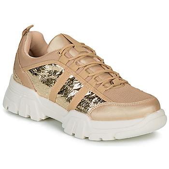 Schuhe Damen Sneaker Low André ALLEGA Goldfarben