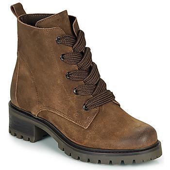 Schuhe Damen Boots André ELISE Braun