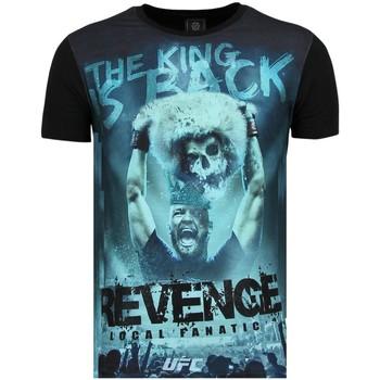 Kleidung Herren T-Shirts Local Fanatic Conor Mcgregor Revenge Shirt Mit Glitzersteinen Z Schwarz