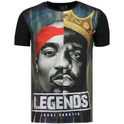 Kleidung Herren T-Shirts Local Fanatic Christopher PAC Legends Shirt Mit Glitzersteinen Z Schwarz
