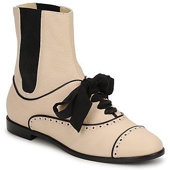 Schuhe Damen Boots Moschino MA2103 Beige