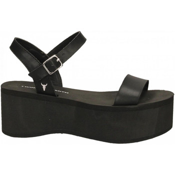 Schuhe Damen Sandalen / Sandaletten Windsor Smith CARLA SMOOTH ACTION black-nero
