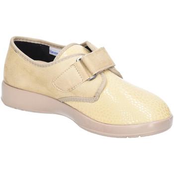 Schuhe Damen Slipper Florett Slipper Zürich Stretchschuh Sand 60811-32 gelb