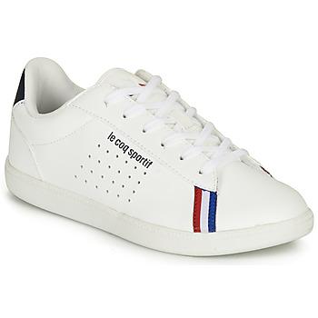 Schuhe Jungen Sneaker Low Le Coq Sportif COURTSTAR GS SPORT BBR Weiss