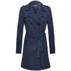 Kleidung Damen Trenchcoats De La Creme Duschfester Damen Trenchcoat Navy