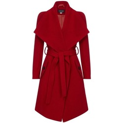 Kleidung Damen Trenchcoats Anastasia Damen Wickel Kaschmir Wollmantel Red