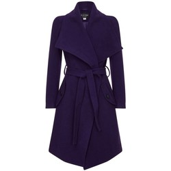 Kleidung Damen Trenchcoats Anastasia Damen Wickel Kaschmir Wollmantel Blue