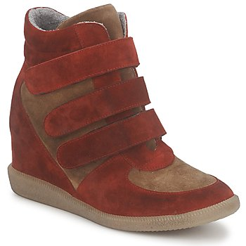 Schuhe Damen Sneaker High Meline IMTEK BIS Braun / Rot