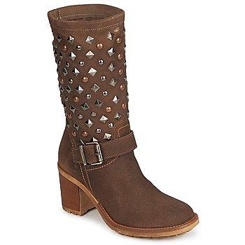 Schuhe Damen Low Boots Meline DOTRE Braun