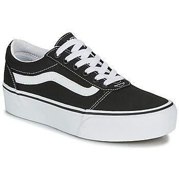 Schuhe Damen Sneaker Low Vans WARD PLATFORM Schwarz