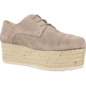 Schuhe Damen Leinen-Pantoletten mit gefloch Bossi 3862 Grau
