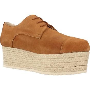 Schuhe Damen Leinen-Pantoletten mit gefloch Bossi 3862 Brown