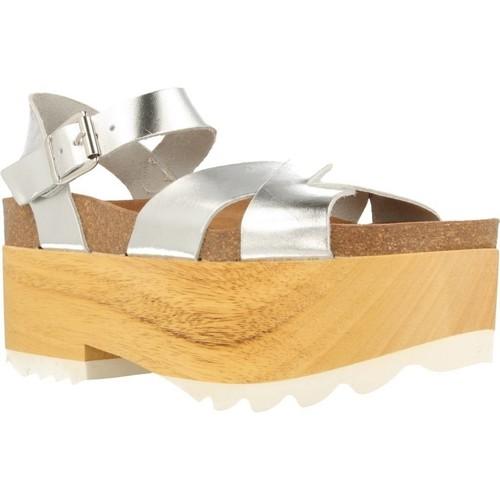 Schuhe Damen Sandalen / Sandaletten Mamalola 71527 Silber