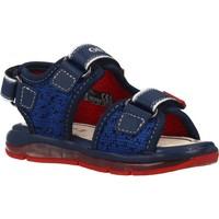 Schuhe Jungen Sportliche Sandalen Geox B SANDAL TODO BOY Blau