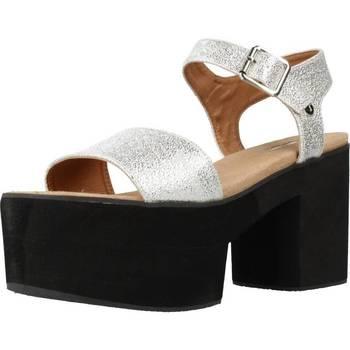 Schuhe Damen Sandalen / Sandaletten Different 64 8555 Silber