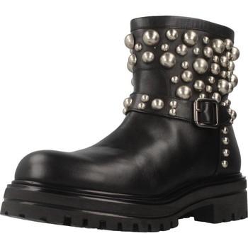Schuhe Damen Boots Albano 8036AL Schwarz