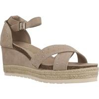 Schuhe Damen Leinen-Pantoletten mit gefloch Carmela 66689C Brown