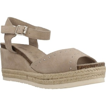 Schuhe Damen Leinen-Pantoletten mit gefloch Carmela 86913 Brown