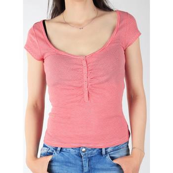 Kleidung Damen T-Shirts Lee T-Shirt  L428CGXX rot, weiß