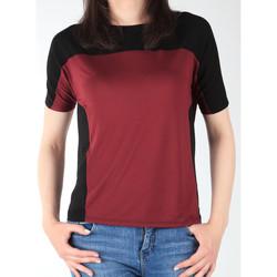 Kleidung Damen T-Shirts Lee Damenshirt  Color Block T L40XJMLL schwarz, dunkelrot