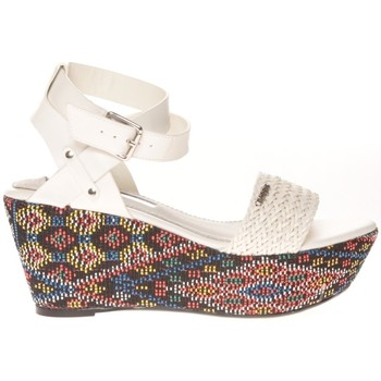 Schuhe Damen Sandalen / Sandaletten Cassis Côte d'Azur Sandales Amalia Blanc Weiss
