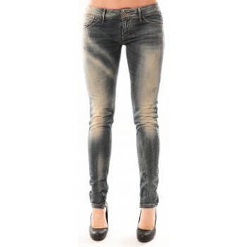 Kleidung Damen Slim Fit Jeans Meltin'pot Jean D1480/BD398 Bleu délavé Blau