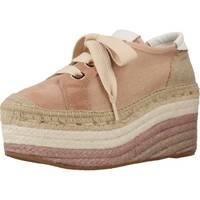 Schuhe Damen Leinen-Pantoletten mit gefloch Vidorreta 05019LIML Brown
