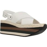 Schuhe Damen Leinen-Pantoletten mit gefloch Paloma Barcelò KYOTO Weiß