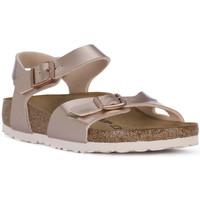 Schuhe Mädchen Sandalen / Sandaletten Birkenstock RIO METALLIC LILAC Grigio