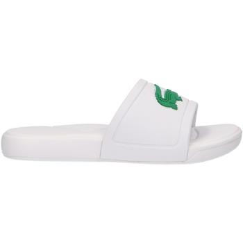Schuhe Kinder Pantoffel Lacoste 37CUC0011 L30 SLIDE 082 WHITE-GR Blanco