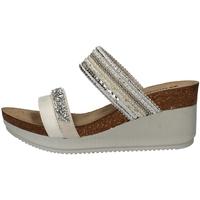 Schuhe Damen Pantoffel Inblu EN 10 WEISS