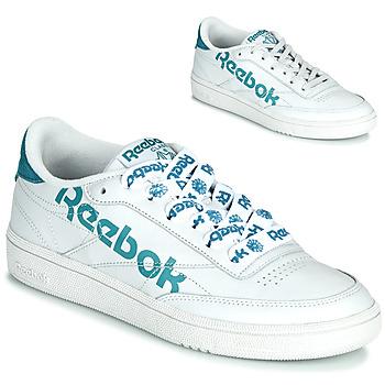 Schuhe Damen Sneaker Low Reebok Classic CLUB C 86 Weiss / Blau