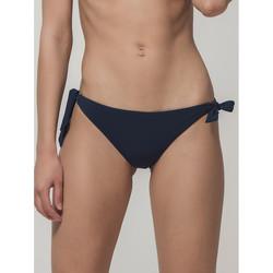 Kleidung Damen Bikini Ober- und Unterteile Luna Blue Sense  Splendida Tie Side Bikini Slips Blau
