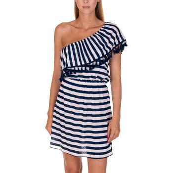 Kleidung Damen Kurze Kleider Lisca Havanna  Strandkleid Blau Marine