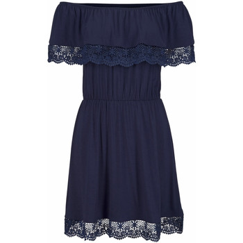 Kleidung Damen Kurze Kleider Lascana Strandkleid Holly  marineblau Blau Marine