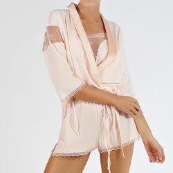Kleidung Damen Pyjamas/ Nachthemden Lisca Boléro Blossom  Auswahl Zartrosa Poudré