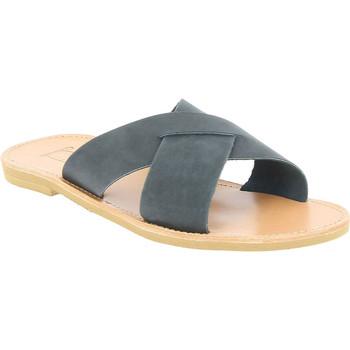 Schuhe Herren Pantoffel Attica Sandals ORION NUBUCK BLACK nero