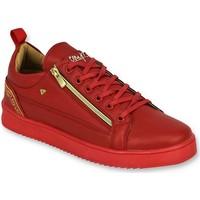 Schuhe Herren Sneaker Low Cash Money E Turn Cesar Red Gold Rot