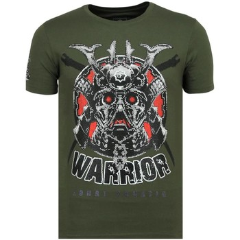 Kleidung Herren T-Shirts Local Fanatic Savage Samurai Rhinestones G Grün