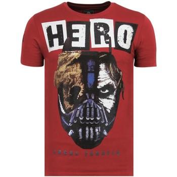 Kleidung Herren T-Shirts Local Fanatic Hero Mask Rhinestones B Bordeaux